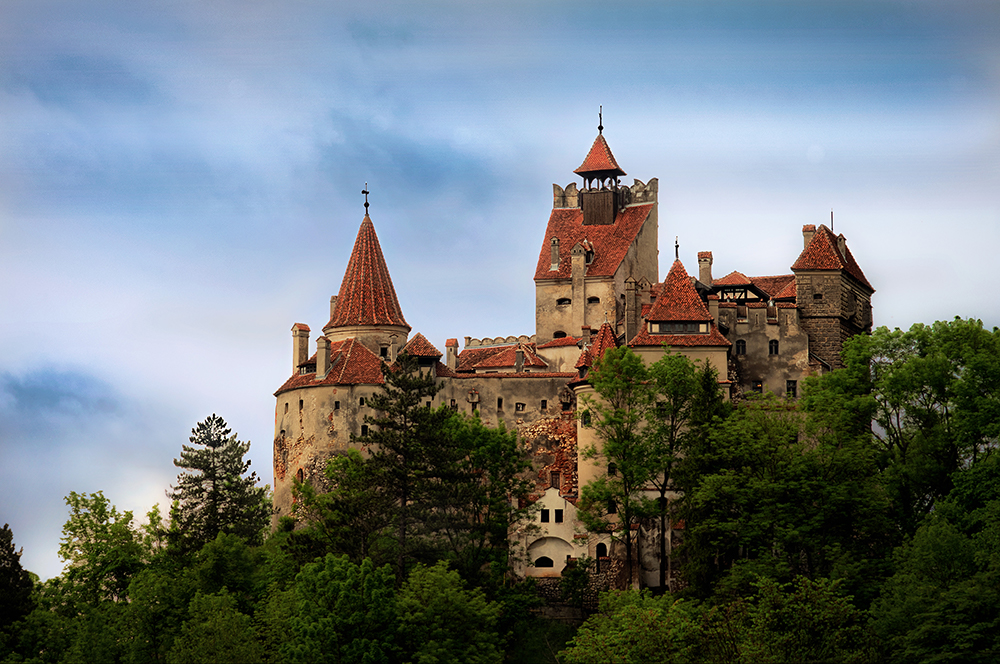An Image of Bran Castle, Romania, the rumored inspiration for Dracula
